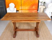 Antique Oak Refectory Dining Table Extending Rustic Country Farm Arts Crafts