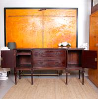 Concave Cuban Mahogany Credenza Sideboard Chippendale (14 of 14)