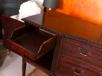 Concave Cuban Mahogany Credenza Sideboard Chippendale (4 of 14)
