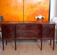 Concave Cuban Mahogany Credenza Sideboard Chippendale (3 of 14)