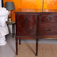 Concave Cuban Mahogany Credenza Sideboard Chippendale (2 of 14)