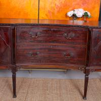 Concave Cuban Mahogany Credenza Sideboard Chippendale (13 of 14)