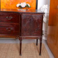 Concave Cuban Mahogany Credenza Sideboard Chippendale (12 of 14)