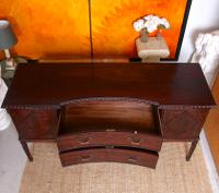 Concave Cuban Mahogany Credenza Sideboard Chippendale (10 of 14)