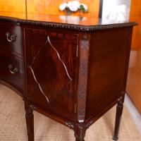 Concave Cuban Mahogany Credenza Sideboard Chippendale (9 of 14)