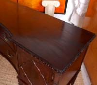 Concave Cuban Mahogany Credenza Sideboard Chippendale (8 of 14)