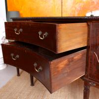 Concave Cuban Mahogany Credenza Sideboard Chippendale (7 of 14)