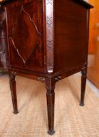Concave Cuban Mahogany Credenza Sideboard Chippendale (6 of 14)