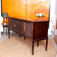 Concave Cuban Mahogany Credenza Sideboard Chippendale (5 of 14)