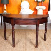 Oak Demi Lune Console Table 19th Century