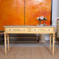 Italian Marble Hand Painted Sideboard Maple & Co Console Table