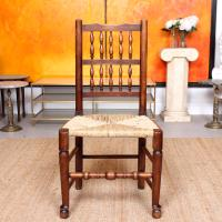 Georgian Dining Chair Carved Ash Rushwork (2 of 10)