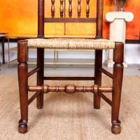 Georgian Dining Chair Carved Ash Rushwork (3 of 10)