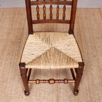 Georgian Dining Chair Carved Ash Rushwork (4 of 10)