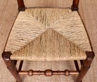 Georgian Dining Chair Carved Ash Rushwork (6 of 10)