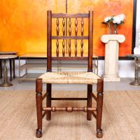 Georgian Dining Chair Carved Ash Rushwork (7 of 10)