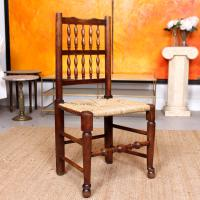 Georgian Dining Chair Carved Ash Rushwork (8 of 10)