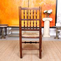 Georgian Dining Chair Carved Ash Rushwork (10 of 10)
