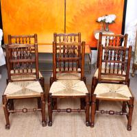6 Georgian Dining Chairs Country Ash Rushwork (6 of 13)