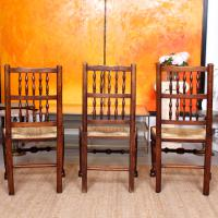6 Georgian Dining Chairs Country Ash Rushwork (8 of 13)