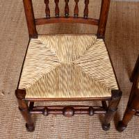 6 Georgian Dining Chairs Country Ash Rushwork (11 of 13)