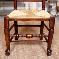 6 Georgian Dining Chairs Country Ash Rushwork (2 of 13)