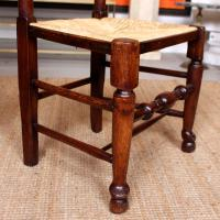 6 Georgian Dining Chairs Country Ash Rushwork (3 of 13)