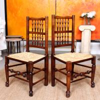 6 Georgian Dining Chairs Country Ash Rushwork (12 of 13)