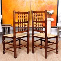 6 Georgian Dining Chairs Country Ash Rushwork (13 of 13)