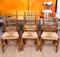8 Georgian Dining Chairs Country Ash Rushwork (4 of 12)