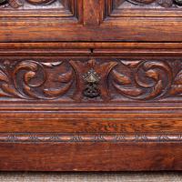Carved Oak Bureau Green Man c.1890 (8 of 12)