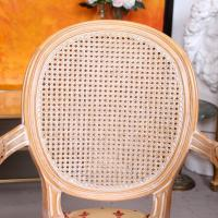 Pair of Continental Bergere Carved Limed Elbow Tub Chairs (8 of 11)