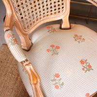 4 Continental Bergere Chairs Armchairs Carved Limed Oak (4 of 12)