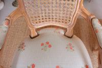 4 Continental Bergere Chairs Armchairs Carved Limed Oak (7 of 12)