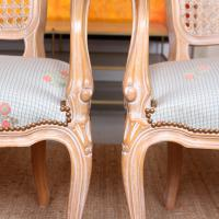 4 Continental Bergere Chairs Armchairs Carved Limed Oak (8 of 12)