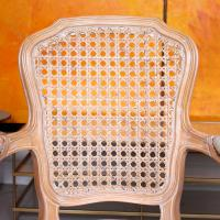 4 Continental Bergere Chairs Armchairs Carved Limed Oak (9 of 12)