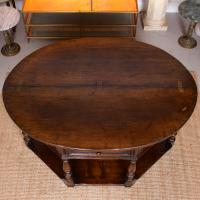 Oak Creedence Table Large Carved Folding Dining Console Table (3 of 12)