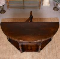 Oak Creedence Table Large Carved Folding Dining Console Table (5 of 12)