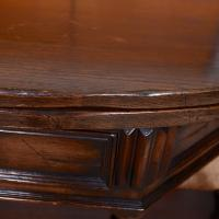 Oak Creedence Table Large Carved Folding Dining Console Table (8 of 12)