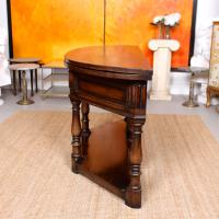 Oak Creedence Table Large Carved Folding Dining Console Table (10 of 12)