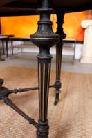 Ebonised Dining Table Gilt Tooled Console (6 of 11)