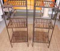 Pair of Tall French Wrought Iron Etagere Whatnot Shelving Stands (4 of 10)