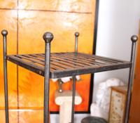 Pair of Tall French Wrought Iron Etagere Whatnot Shelving Stands (6 of 10)