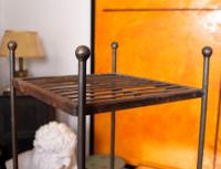 Pair of Tall French Wrought Iron Etagere Whatnot Shelving Stands (7 of 10)