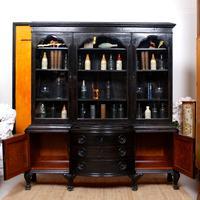 Austrian Ebonised Oak Glazed Dresser Bookcase Display Cabinet (2 of 12)