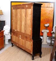 Austrian Ebonised Oak Glazed Dresser Bookcase Display Cabinet (12 of 12)