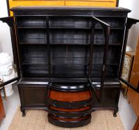 Austrian Ebonised Oak Glazed Dresser Bookcase Display Cabinet (7 of 12)