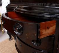 Austrian Ebonised Oak Glazed Dresser Bookcase Display Cabinet (11 of 12)