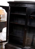 Austrian Ebonised Oak Glazed Dresser Bookcase Display Cabinet (6 of 12)