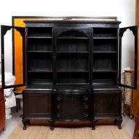 Austrian Ebonised Oak Glazed Dresser Bookcase Display Cabinet (5 of 12)